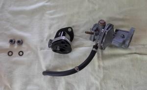 Pompe à essence nettoyée