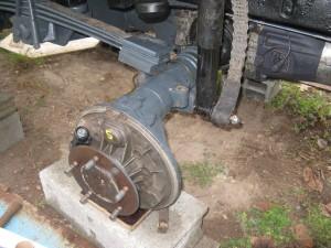 Roue arrière avec le cylindre de roue et les flexivles remontés