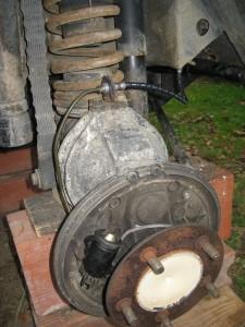 Cylindre de frein, flexible et durite remontées