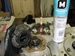 Remontage du joint de l'arbre moteur.