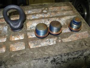 Nouveaux joints en cuivre et bouchon de vidange