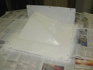 Plaque de boite de vitesse peinte
