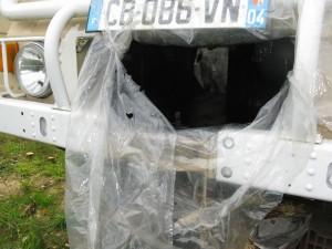 Protection de la conduite d'air avec du Teroson